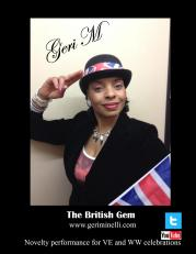 Geri Minelli celebrates VE Day