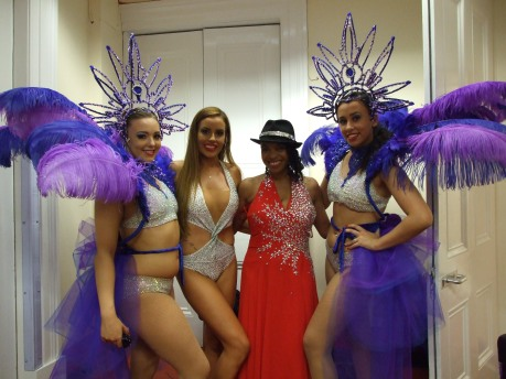 Geri and her Bond girls